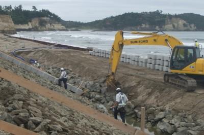 海岸災害復旧工事